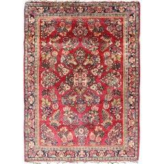 Very Fine Persian Sarouk Small Rug