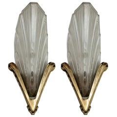 French Art Deco Wall Sconces by EJG