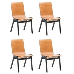 Roland Rainer Modernist Church Chairs, E & A Pollack, Switzerland, 1956