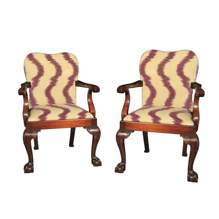 George III Style Armchairs For Sale