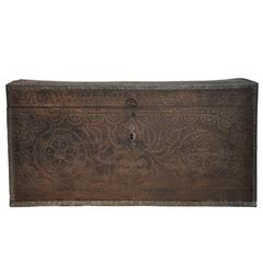 Late 19th Century Studded Trunk from France