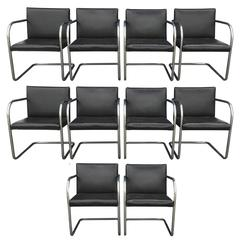 Ten Ludwig Mies Van Der Rohe Brno Dining Chairs for Knoll