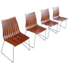 Rare Set of Dining Chairs by Kjell Richardsen for Tynes, Norway, 1958