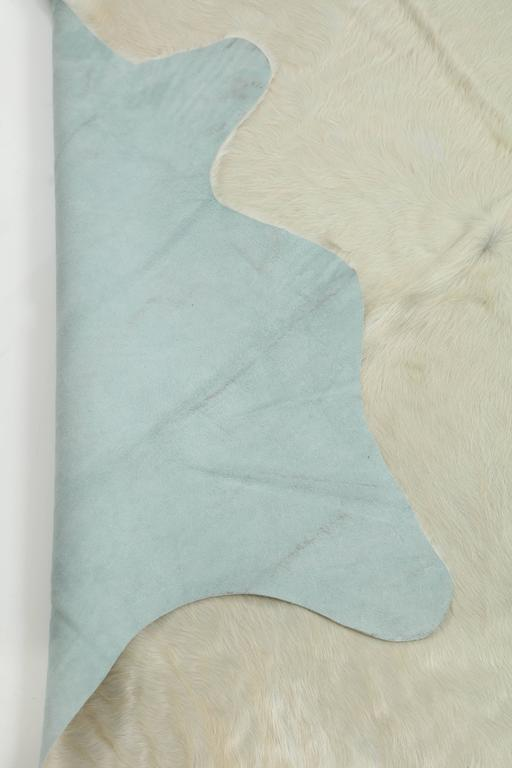 Contemporary White Brazilian Cowhide Rug, 2016 In Excellent Condition For Sale In New York, NY