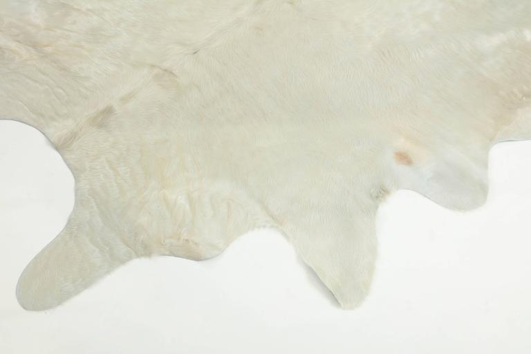 Contemporary White Brazilian Cowhide Rug, 2016 For Sale 2