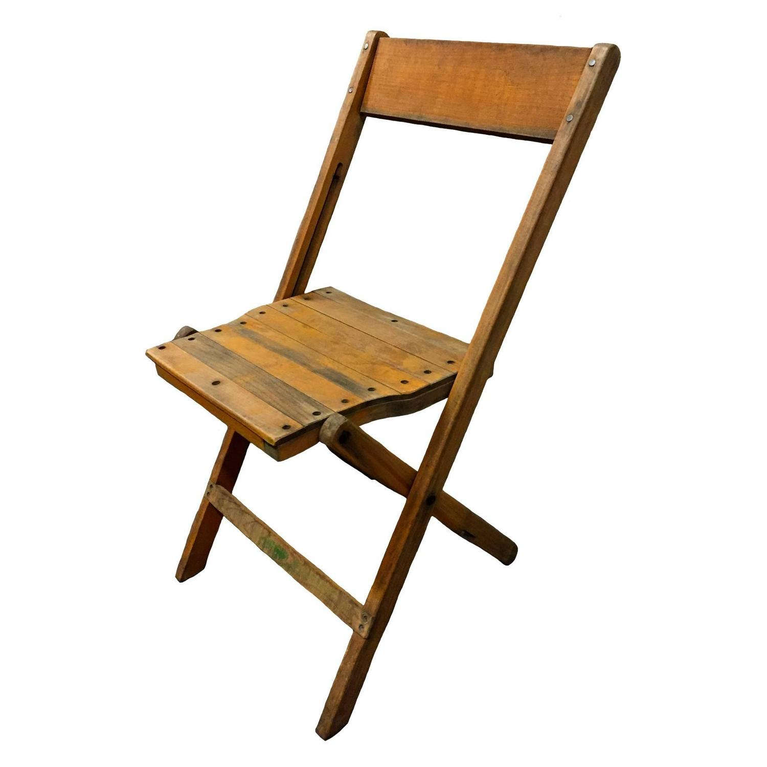 Wood Folding Chairs ~ Wooden folding chairs for sale at stdibs