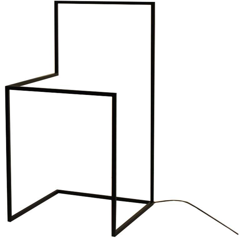 F/G - Powder-Coated Aluminum Minimal Geometric Sculptural Floor Light Object For Sale