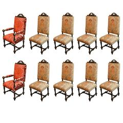 Set of Ten French Renaissance Style Chairs