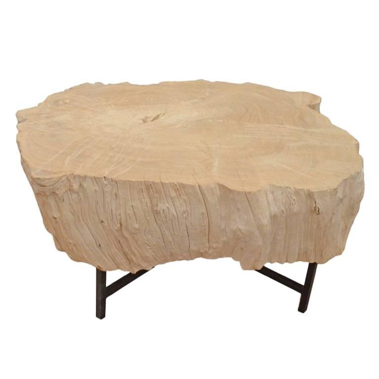 Teak Coloured Coffee Table: St. Barts Bleached Teak Wood Coffee Table For Sale At 1stdibs