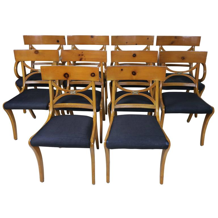 Set of Ten Fruitwood Dining Chairs Elegant Ruhlmann Style  : IMG5823orgl from www.1stdibs.com size 768 x 768 jpeg 48kB