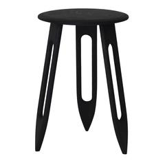 Tibula Small Stool by Materia Designs in Ebonized Red Oak, 2016
