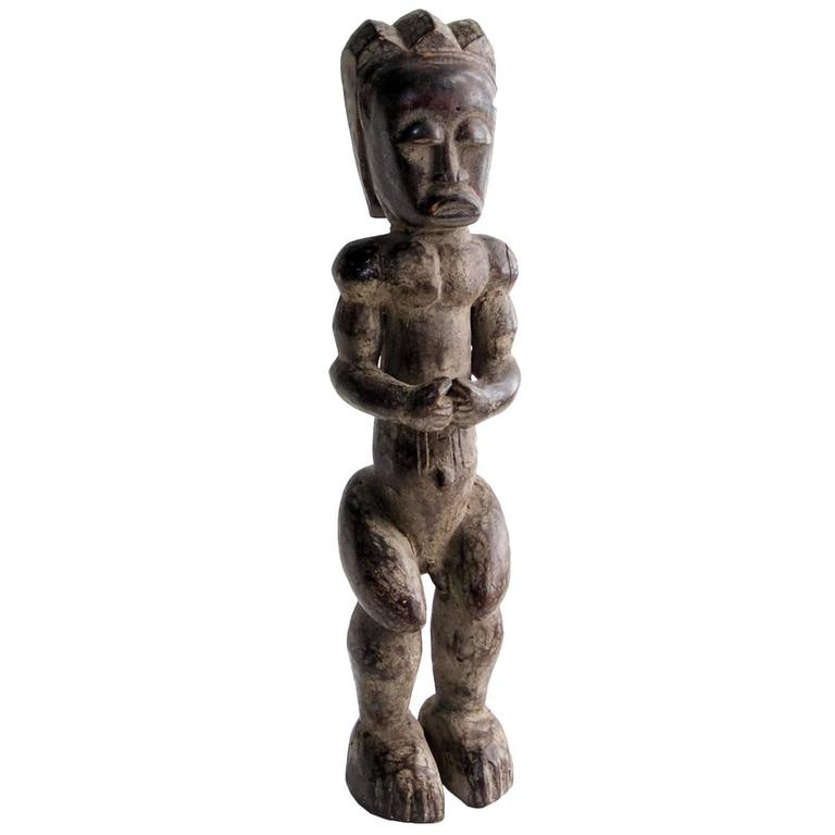 Large African Fang Sculpture of Male Figure