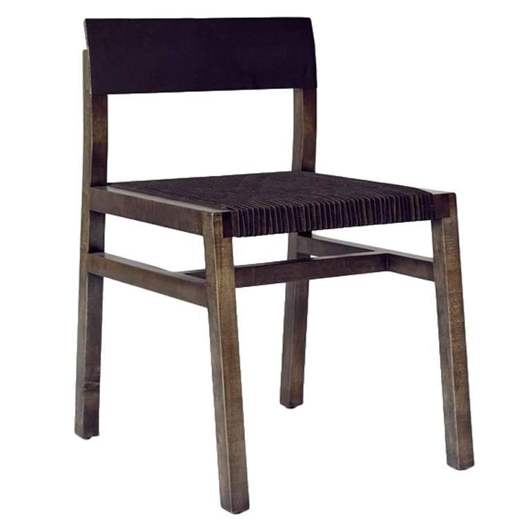 36 Chair w/ Leather Seat - Customizable finishes For Sale