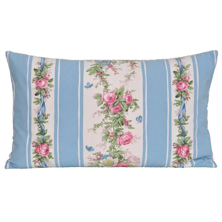 Vintage French Boussac Versailles Fabric with Irish Linen Cushions Pillows