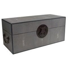 Gray Shagreen Wood Box FINAL CLEARANCE SALE