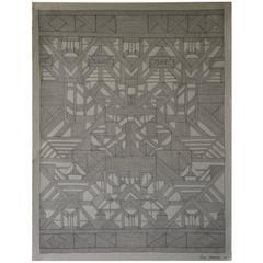 Heritage Drawing #3 in Black Ink on Grey Paper