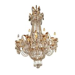 Italian Gilt-Metal and Crystal Chandelier