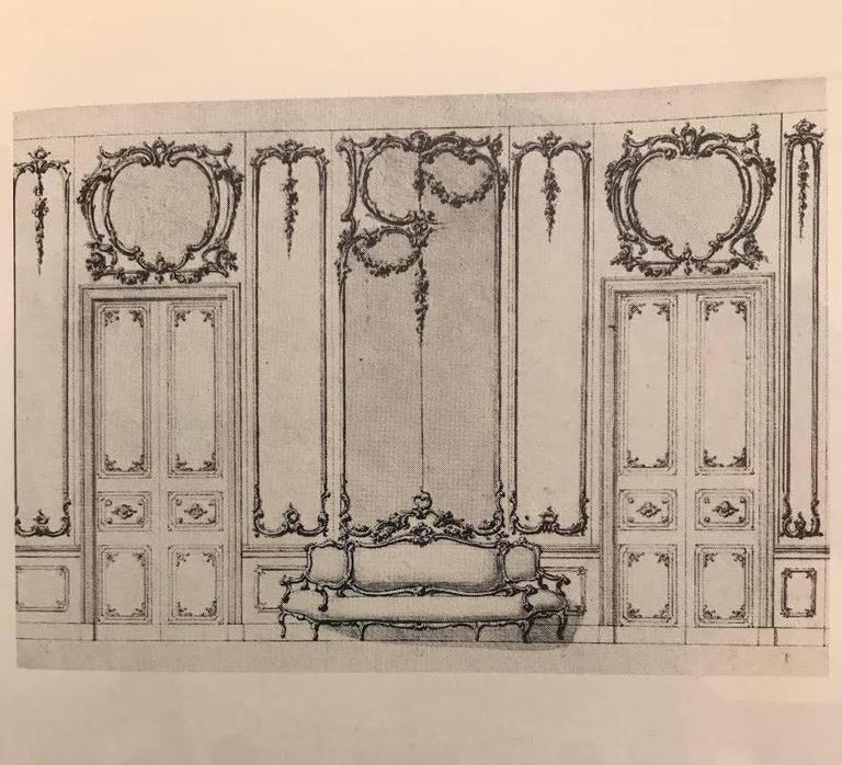 "19th Century German Sofa and Mirror or ""Canape De L'amitie"" in Louis XV Style 7"