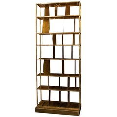 Flair Edition Natural Brutalist Brass Bookcase