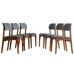 Erik Buch 1960s Danish Teak Dining Chairs