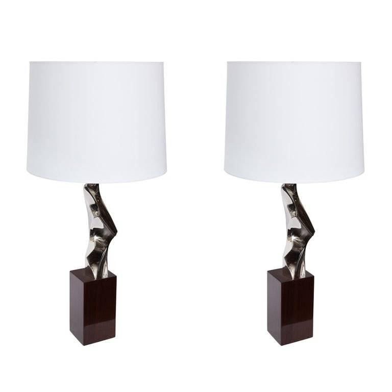 Pair of 1960s Sculptural Table Lamps 1