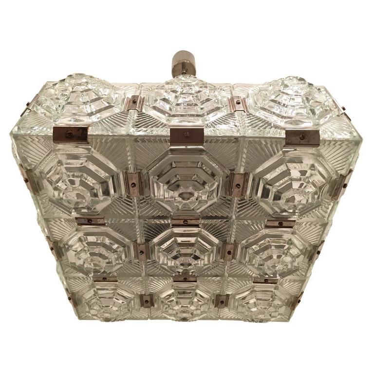 1960s Czech Kamenicky Senov Bohemian Glass Pendant