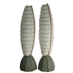 Pair of Custom Asian Inspired Lamps