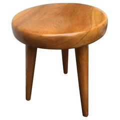 Charlotte Perriand 1950s Genuine High Version Tripod Ash Tree Stool