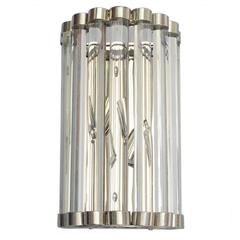 Cristallo Nickel Bars Sconce