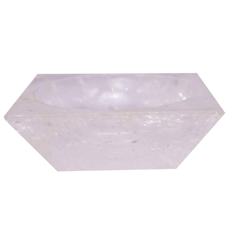 Rock Crystal Quartz Square Bowl