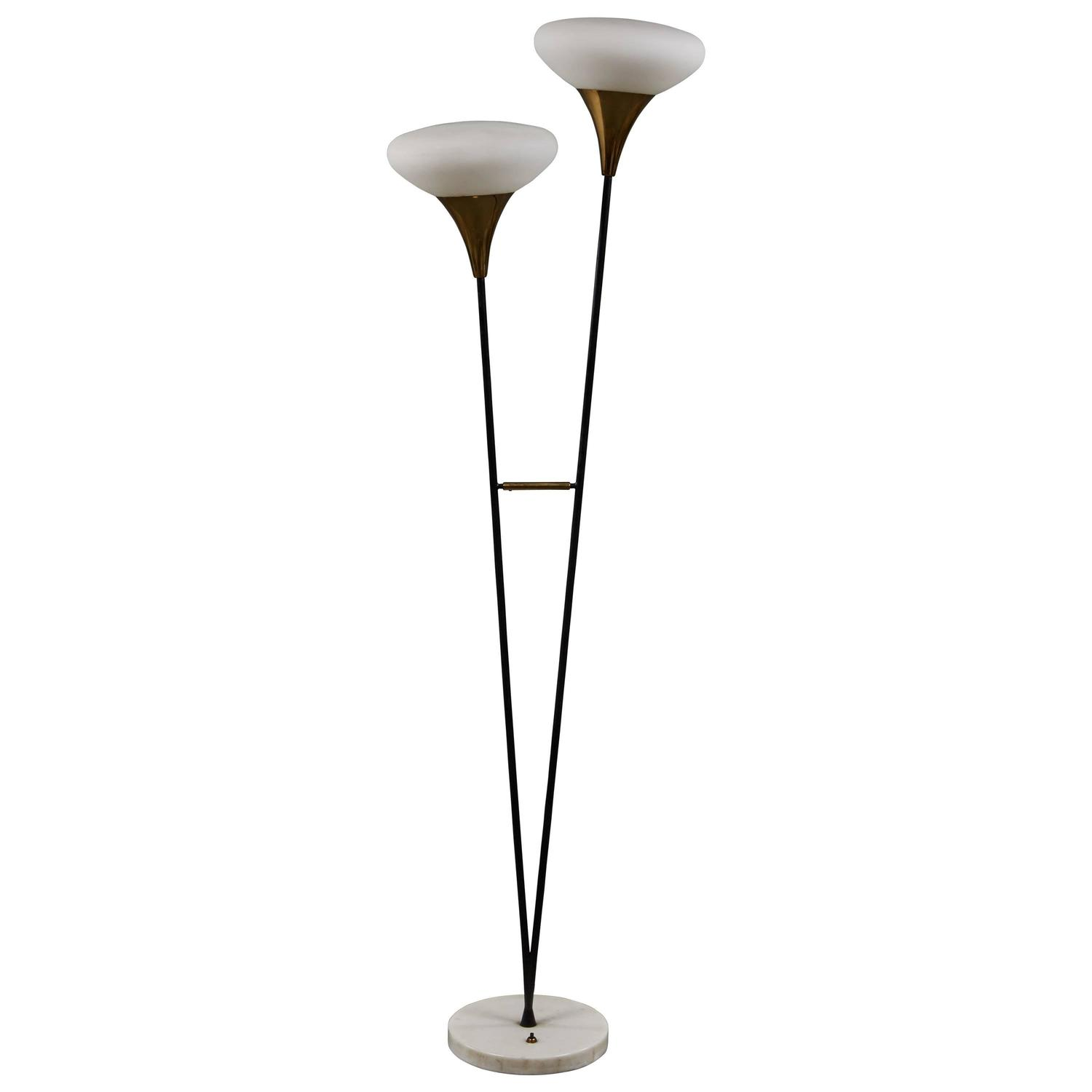 unusual stilnovo floor lamp for sale at 1stdibs. Black Bedroom Furniture Sets. Home Design Ideas