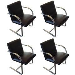 "Set of 4 Vintage Mies van der Rohe ""Brno"" Chairs"