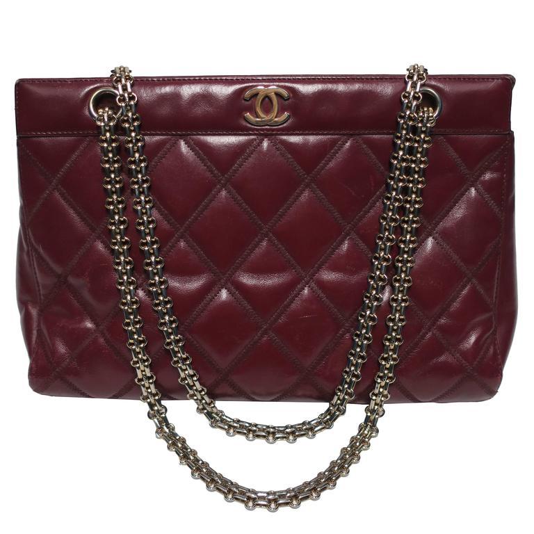 Vintage Chanel Burgundy Red Leather Bag