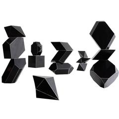 Set of 15 Bakelite Geometric Forms, circa 1930