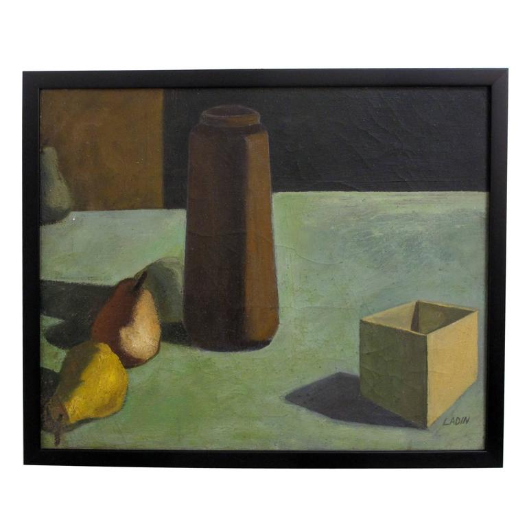 Still Life Painting by David Ladin, American Mid 20th Century For Sale