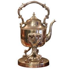 Impressive Tilt Tea Coffee Spirit Kettle Pot English Georgian Style