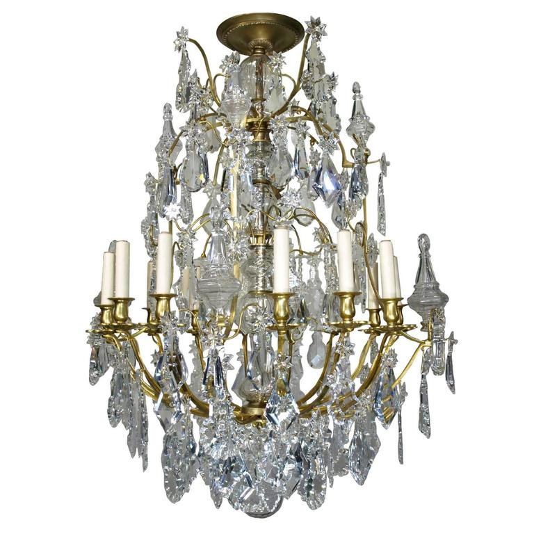 Antique Chandelier by Baccarat For Sale - Antique Chandelier By Baccarat For Sale At 1stdibs