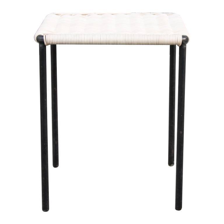 Carl Aubock Square Wicker Side Table 2 At 1stdibs