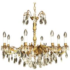 Italian Gilded Eight-Light Antique Chandelier