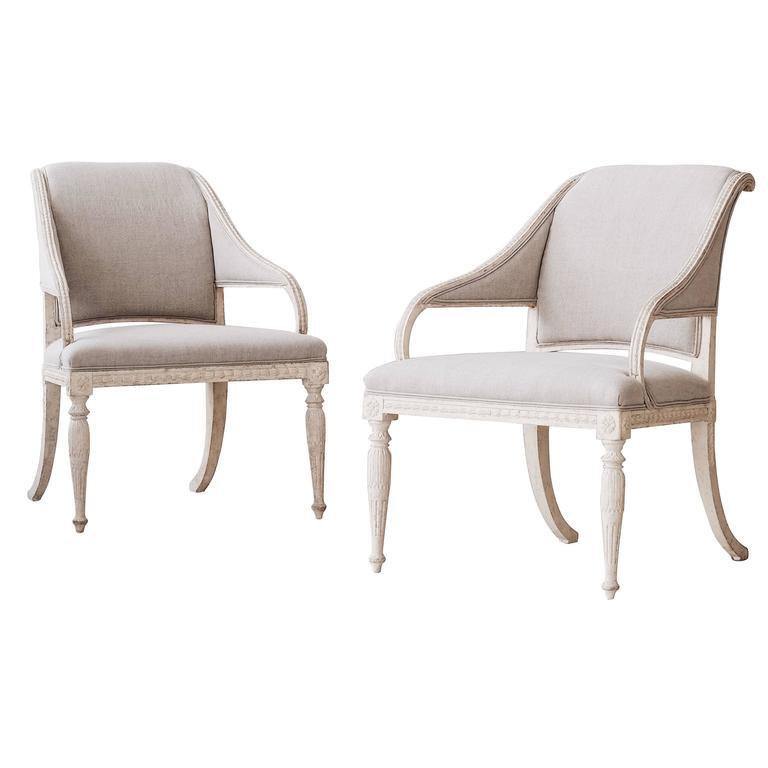 19th Century Gustavian Armchairs