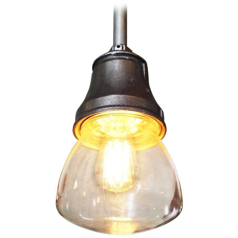 Pendant Lamp Light Polished Aluminum Vintage Industrial Iron Glass Ceiling