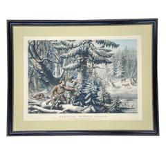 "Currier and Ives, Deer Shooting ""on the Shattagee"""