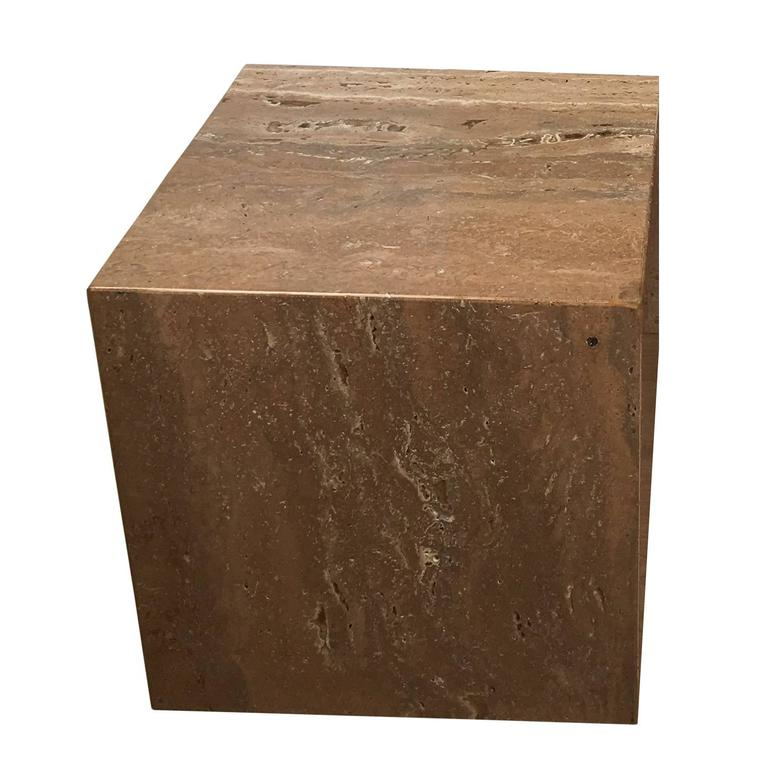 "1970s Travertine  15"" Cube"