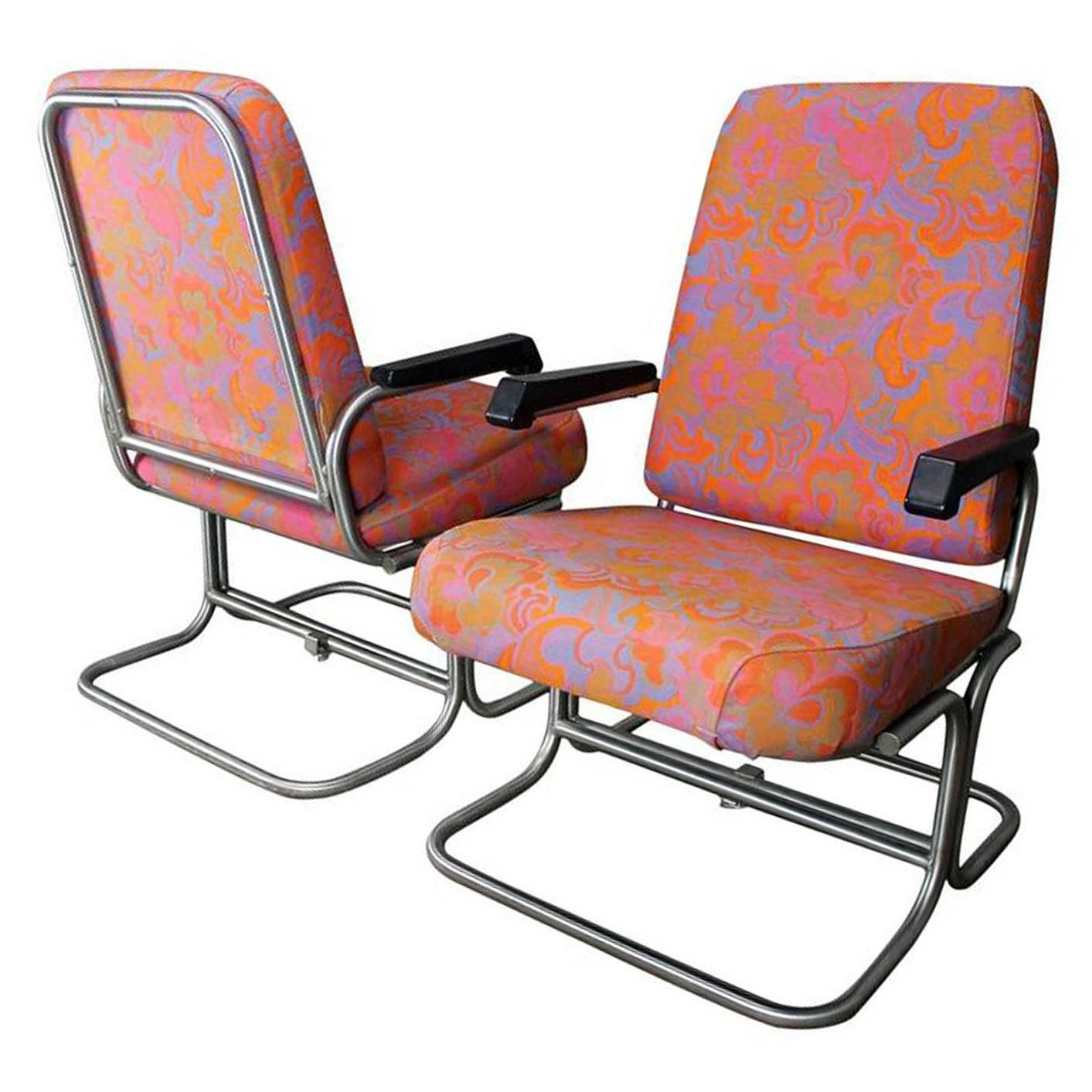 aluminum pullman passenger train railroad lounge chair saturday