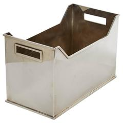 Silvered Metal Container