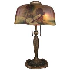Pittsburgh Reverse Painted Table Lamp, circa 1920