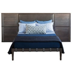 Jasper Bed in Silver Grey Walnut - handcrafted by Richard Wrightman Design