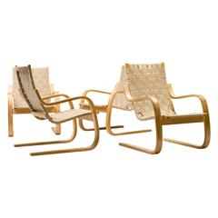 Set of Four Alvar Aalto #406 Lounge Chairs