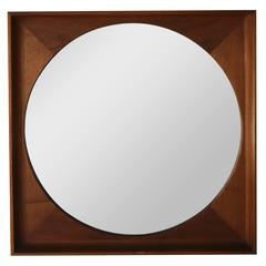 Walnut Framed Mirror by Arthur Umanoff for Howard Miller