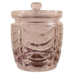Tiffany Crystal Biscuit Jar with Lid